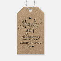 Rustic Kraft Wedding Favor Tag - Thank You 2