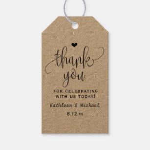 e3e67ae10532 Rustic Kraft Wedding Favor Tag - Thank You 2
