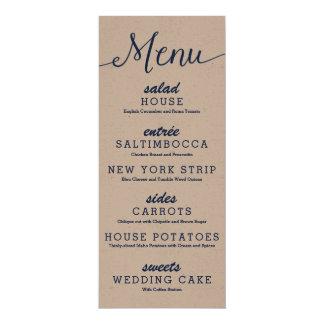 Rustic Kraft Wedding Menu Card