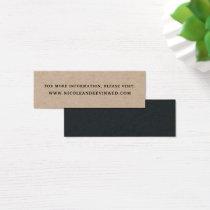 Rustic Kraft Wedding Website Cards | Mini