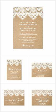 Rustic Lace and Kraft Paper Wedding Collection