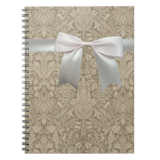 Rustic Lace and Linen Vintage Modern Notebook