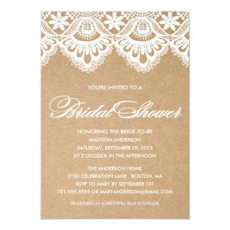 RUSTIC LACE | BRIDAL SHOWER INVITATION