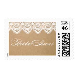 RUSTIC LACE | BRIDAL SHOWER POSTAGE