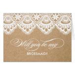 RUSTIC LACE | BRIDESMAID CARDS