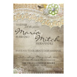 Rustic Lace Distressed Wedding Invitation