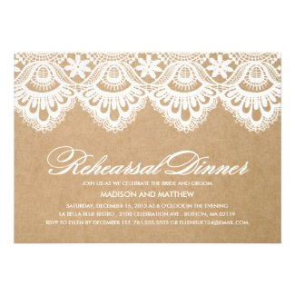 RUSTIC LACE | REHEARSAL DINNER INVITATION