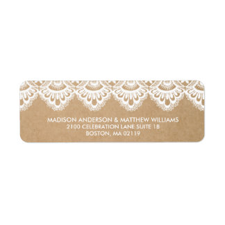 RUSTIC LACE | RETURN ADDRESS LABELS