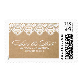 RUSTIC LACE | SAVE THE DATE POSTAGE
