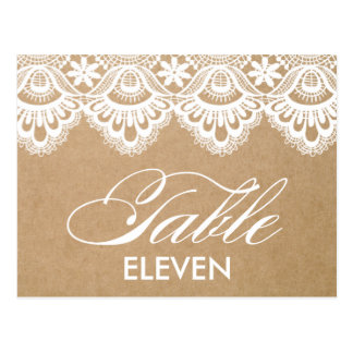 RUSTIC LACE | TABLE NUMBERS POST CARDS