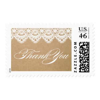 RUSTIC LACE | THANK YOU POSTAGE