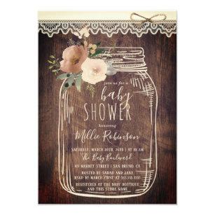 Mason Jar Baby Shower Invitations Zazzle