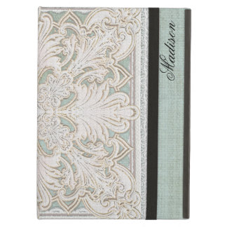 Rustic Lace w Aged Vintage Linen Country Elegance iPad Air Case