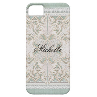Rustic Lace w Aged Vintage Linen Country Elegance iPhone SE/5/5s Case