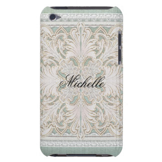 Rustic Lace w Aged Vintage Linen Country Elegance iPod Touch Cover