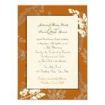 "Rustic Lace Wedding 5.5"" X 7.5"" Invitation Card"