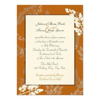 Rustic Lace Wedding 5.5x7.5 Paper Invitation Card