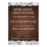 Rustic Lace Wedding Personalized Invitation Cards
