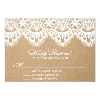RUSTIC LACE | WEDDING RSVP ENCLOSURE CARD