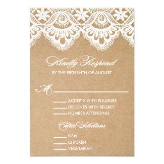 RUSTIC LACE | WEDDING RSVP ENCLOSURE CARD 2
