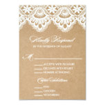 "RUSTIC LACE | WEDDING RSVP ENCLOSURE CARD 2 3.5"" X 5"" INVITATION CARD"