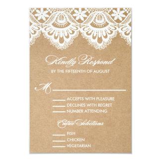 RUSTIC LACE | WEDDING RSVP ENCLOSURE CARD 2 PERSONALIZED ANNOUNCEMENT