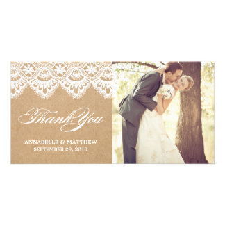 RUSTIC LACE | WEDDING THANK YOU PHOTO CARD