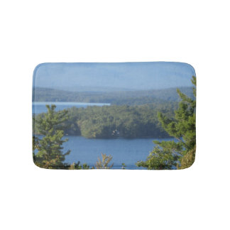 Rustic Lake View from Gilford Bath Mat
