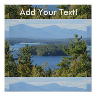 Rustic Lake View from Gilford Poster