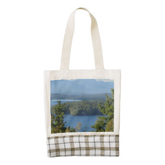 Rustic Lake View from Gilford Zazzle HEART Tote Bag