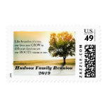 Rustic Lakeside Tree Family Reunion or Other Event Postage Stamps