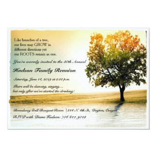 Rustic Lakeside Tree Family Reunion Party Invites