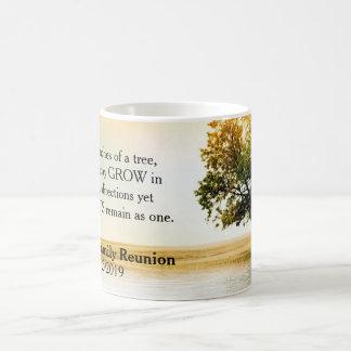 Rustic Lakeside Tree Family Reunion Souvenir Coffee Mug