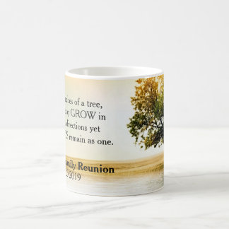 Rustic Lakeside Tree Family Reunion Souvenir Classic White Coffee Mug