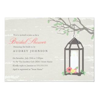 Rustic Lantern Bridal Shower Invitation