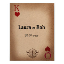 Rustic Las Vegas Wedding Cards