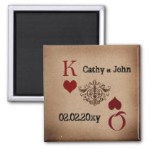 Rustic Las Vegas Wedding Cards Magnet