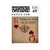 Rustic Las Vegas Wedding Cards Postage