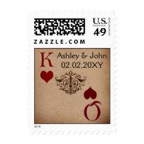 Rustic Las Vegas Wedding Cards Postage