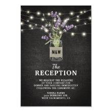 Rustic Lavender Jar Wedding Evening Reception