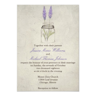 Rustic Lavender Mason Jar | Wedding Personalized Invites