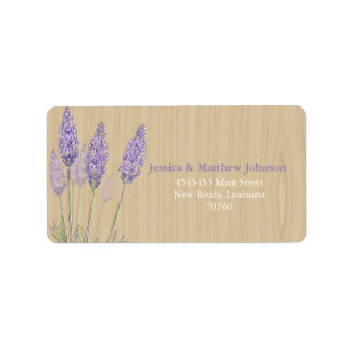 Rustic Lavender Personalized Address Labels