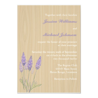 Rustic Lavender Wedding Card