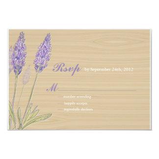 Rustic Lavender Wedding Personalized Invites