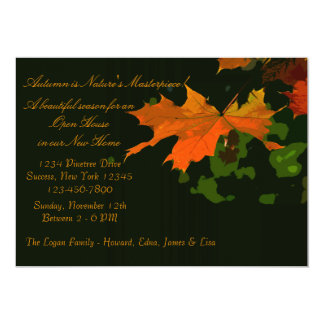 Rustic Leaf Invitation