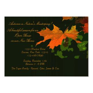 Rustic Leaf Invitation