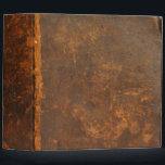 """rustic leather 3 ring binder<br><div class=""""desc"""">Ancient leather book cover. Photographed from the cover of a bible from 1776. Super high-resolution image with awesome detail. Add your own text. This design will only work with the 2-inch version All images used in our products are created by the people at Sumners Graphics, designed with care and are...</div>"""