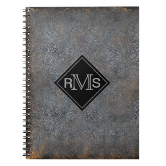 Rustic Leather Book Look | Monogrammed Initials