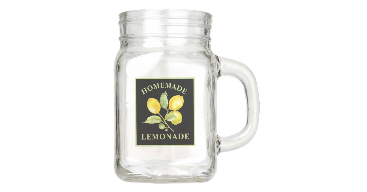 Rustic Lemons Country Homemade Lemonade Mason Jar Zazzle Com