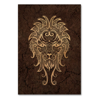 Rustic Leo Zodiac Sign on Stone Effect Table Cards